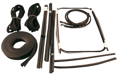 Door seal kit PV with black windlace in the group Volvo / Volvo PV/Duett / Body / Window glass / Rubber seals / Gaskets and seals 544 at VP Autoparts AB (1100)