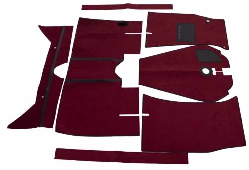 Carpet kit red for Volvo 122 65-70 M/T in the group Volvo / Volvo Amazon/122 / Interior / Mats/carpets / Carpets and Accessories Amazon 220 wagon at VP Autoparts Inc. (277227)
