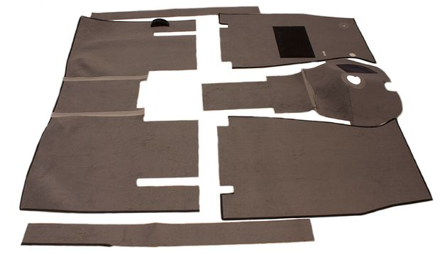 Carpet kit Volvo 122 57-61 grey in the group Volvo / Volvo Amazon/122 / Interior / Upholstery 220 / Upholstery Amazon Code 504-215 1962-63 at VP Autoparts Inc. (277230)
