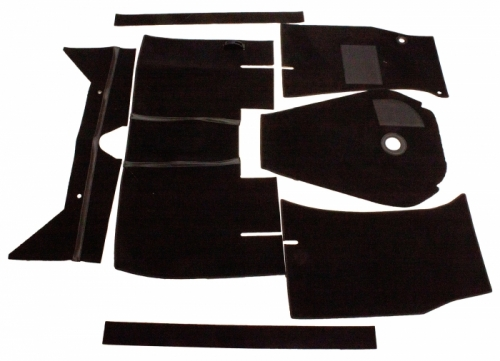 Carpet kit black for Volvo 122 62-64 M/T in the group Volvo / Volvo Amazon/122 / Interior / Mats/carpets / Carpets and Accessories Amazon 2d/4d at VP Autoparts Inc. (277233)