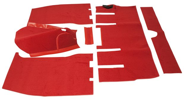 Carpet kit Volvo 1800 1963 red  RHD in the group Volvo / Volvo 1800 / Interior / Mats/carpets / Carpets and Accessories 1800 1961-63 RHD at VP Autoparts Inc. (277301RHD)