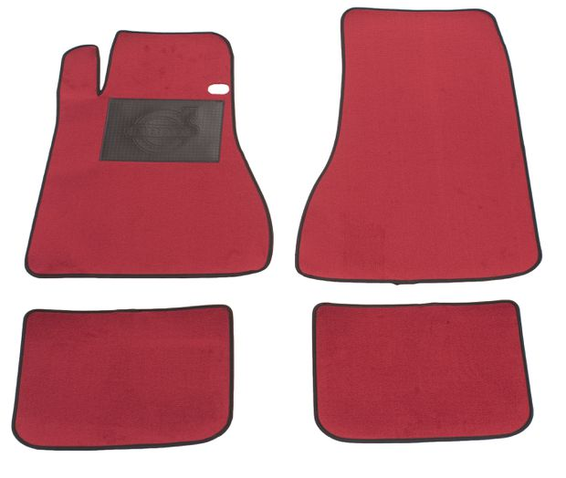 Accessory Carpet kit Volvo 1800E/ES red in the group Volvo / Volvo 1800 / Interior / Mats/carpets / Accessory mats 1961-73 at VP Autoparts Inc. (281032)