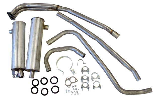 Exhaust system 140 67-73 B18A/B/D B20A/B in the group Volvo / Volvo 140/Volvo 164 / Fuel/Exhaust system / Exhaust system / Exhaust system 140 1967-73 B18/B20 A/B/D at VP Autoparts Inc. (293300)