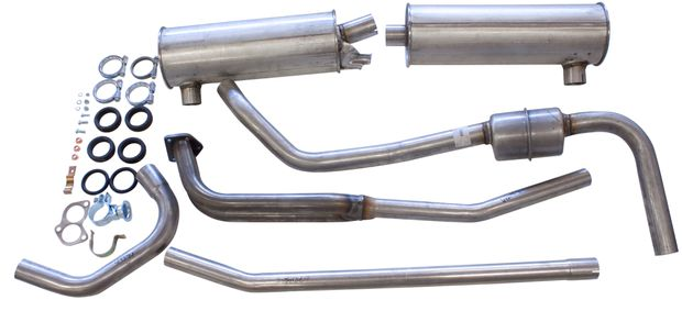 Exhaust system 140GL/E 70-73 in the group Volvo / Volvo 140/Volvo 164 / Fuel/Exhaust system / Exhaust system / Exhaust system 140 GL/GLE 1970-73 B20E at VP Autoparts Inc. (293305)