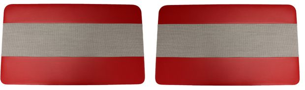 Door panel 544B 60-61 Favorit red/grey L in the group Volvo / Volvo PV/Duett / Interior / Upholstery 544 / Upholstery 544 code 28-166 1960-61 at VP Autoparts Inc. (690344-45)