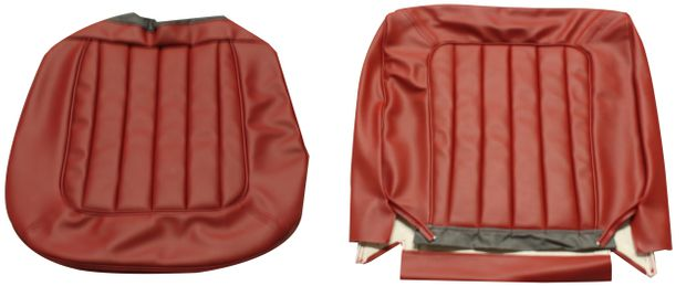 Cover Front seat Amazon 1964 US red in the group Volvo / Volvo Amazon/122 / Interior / Upholstery 220 / Upholstery Amazon Code 508-255 1964 at VP Autoparts Inc. (691198-99)