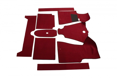 Carpet kit Volvo 140 -71 red in the group Volvo / Volvo 140/Volvo 164 / Interior / Mats/carpets 140 1967-74 at VP Autoparts Inc. (693921)