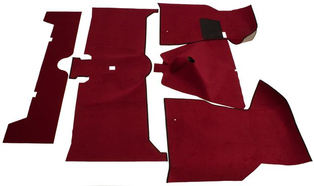 Carpet kit Volvo 140 1972 Red textile in the group Volvo / Volvo 140/Volvo 164 / Interior / Mats/carpets 140 1967-74 at VP Autoparts Inc. (693931)