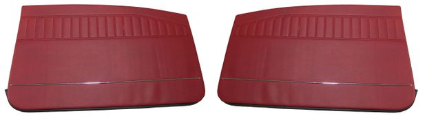 Door panel Amazon 2d 1970 red LH in the group Volvo / Volvo Amazon/122 / Interior / Upholstery 120/130 / Upholstery Amazon Code  434-636 1970 at VP Autoparts Inc. (695098-99)