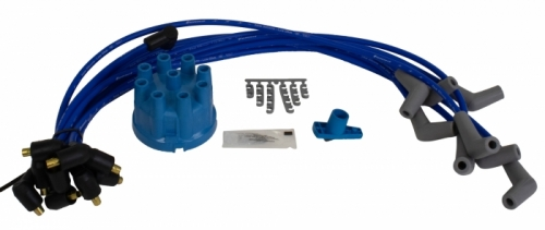 Spark Plug Wire Kit W/cap & Rotor Blue in the group Ford/Mercury / Ford Mustang 65-73 / Electrical components/lights / Ignition system / Spark plugs/ign.wires Mustang 65-73 at VP Autoparts AB (SUM-867805CR)